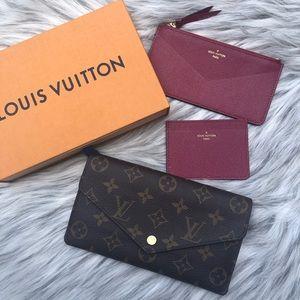 Louis Vuitton Jeanne Wallet 3 Piece Set New